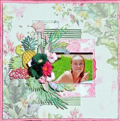 Gorgeous single page layout by the fabulous Denise van Deventer using FabScraps C108 Pink Lemonade collection