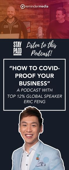Listen in to this week's Stay Paid podcast as Eric Feng shares with Luke and Josh the three steps service professionals can take to create an attraction-based business—one where quality clients come looking for you—that's immune to threats like COVID-19.  coronavirus business tips - covid-19 small business marketing - relationship marketing Business Professional, Business Tips, Go To Facebook, Relationship Marketing, Small Business Marketing, Online Marketing, Attraction, Social Media, Create