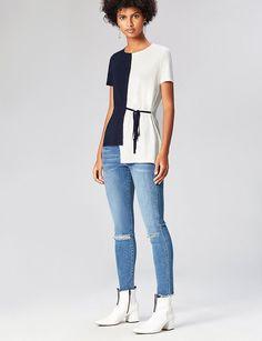 T-Shirt donna Amazon bicolore