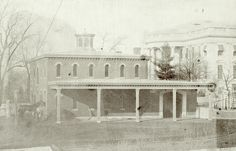 On this day in a tragic fire wiped out the White House stable, destroying the Lincoln family horses. At that time the Lincoln stable was located on the East Grounds toward the Treasury Department and had been built in Rare Photos, Vintage Photographs, Vintage Photos, History Class, Us History, History Pics, American Civil War, American History, Old Pictures