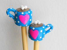 Hot Chocolate Knitting Needles by DotDotSmile