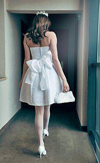 Mirabella RIBBON  Short wedding dress,  white, with a big ribbon  AU$296.01