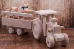 Grosse voiture en bois jouet voiture de par TheWoodPeckerFactory