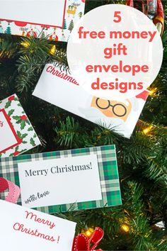 Download these five free designs, cut them out, add a wee bit of glue and you will have charming Gift Envelopes in no time. These DIY Christmas Money Gift Envelopes make the gift of money just that much more festive and are a much-appreciated gift idea. Diy Envelope, Envelope Design, All Things Christmas, Christmas Crafts, Christmas Stocking, Money Envelopes, Money Cards, Free Christmas Printables, Holiday Gifts