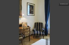 Private bedroom 1°!special design between antique, modern & contemporary  furniture, bed matrimonial signed Zannotta.