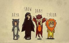 Game of Thrones animal representation.