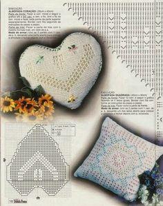 Tecendo Artes em Crochet: Três Lindas Capas para Almofadas com Gráficos!