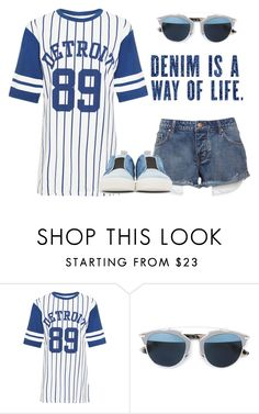 """Denim"" by wearall ❤ liked on Polyvore featuring WearAll, Christian Dior and Pierre Hardy"