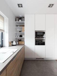 Kitchen Corner, Kitchen Layout, New Kitchen, Kitchen Decor, Kitchen Ideas, Classic Kitchen, China Kitchen, Narrow Kitchen, Kitchen Black