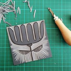 Print your own Marimekko inspired fabrics or wallpaper by making your own stamps