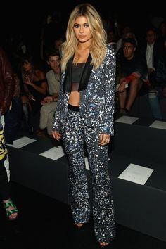Pin for Later: Die Stars machen die New York Fashion Week noch modischer Kylie Jenner bei der Schau von Prabal Gurung