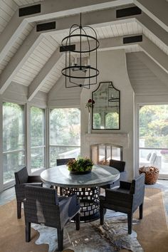 screened in porch and deck screened in porch diy screened in porch with fireplace screened in porch ideas screened in porch decorating ideas screened porch designs screened porch decorating Porch Fireplace, Fireplace Screens, Fireplace Design, Fireplace Ideas, Deck With Fireplace, See Through Fireplace, Fireplace Candles, Country Fireplace, Fireplace Kitchen