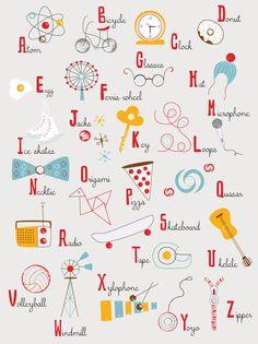 Alphabet print by Lisa De John