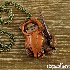 Ewok Polymer Clay Necklace. $25.00, via Etsy.