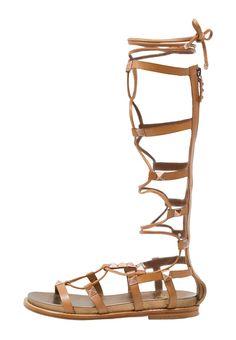 Miracle sandaal met schacht camel ash
