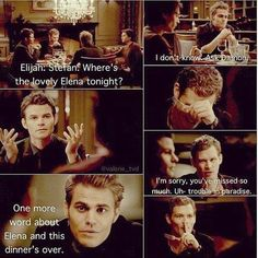 This scene is SO FUNNY! Delena forever <3 - The Vampire Diaries