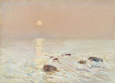 """""""Morning, Isles of Shoals,"""" Childe Hassam, 1890, oil on canvas, 16 1/4 × 22 1/4"""", North Carolina Museum of Art, Raleigh, Promised gift of Ann and Jim Goodnight."""