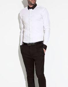 STRETCH SHIRT - Shirts - Man - ZARA