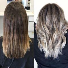 Hair Extensions Remy – Hair Care And Extensions Balayage Hair Lob, Ash Blonde Hair, Pinterest Hair, Hair Transformation, Hair Videos, Hair Highlights, Hair Looks, Curly Hair Styles, Hair Makeup