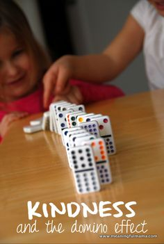 Kindness and the Domino Effect - This is not only a great post to help teach kids about kindness but also inspire everyone to pay it forward.