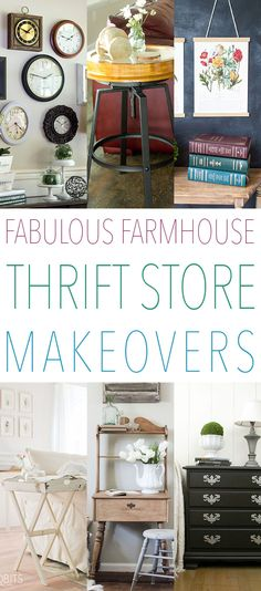 Fabulous Farmhouse Thrift Store Makeovers that you will want to make for your own home!