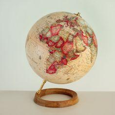 Atmosphere Mayfair Non-Illum. Full Circle Antique World Globe 30cm