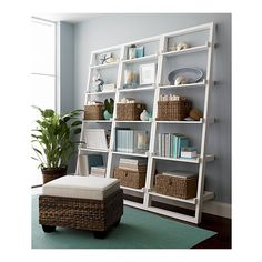 Sloane Leaning Bookcase from Crate and Barrel
