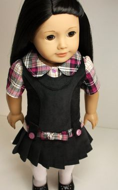 American Girl Doll Clothes-Jumper and Blouse