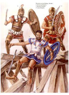 Roma, 508 a.C., el Rey etrusco Lars Porsena avanza hacia Roma, desalojando a los defensores del Monte Janículo y amenazando con entrar en la ciudad a través de un puente sobre el Tíber. Horacio Cocles (el tuerto) lo defiende junto a sus compañeros... Más en www.elgrancapitan.org/foro