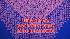 Borde Punto Nudo de Solomon o Espuma de Mar para Chales a Crochet