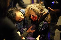 One rubber ball shot, losing one eye, democratic police in spain #14N #barcelona