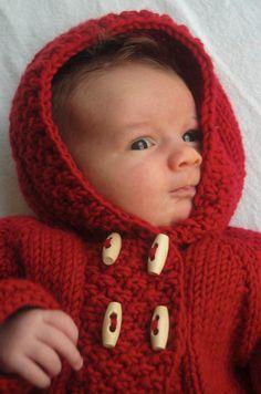 Modèle de tricot de Red Riding Coat PDF par frogginette sur Etsy