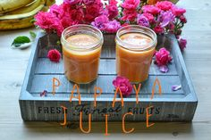 Last weekend I made this papaya juice and I fell in love with it! If you're looking for a drink matching this description, there you go, ready in 3 minutes for ya! Good Smoothies, Juice Smoothie, Papaya Juice, Breakfast Time, Her Smile, Juices, Healthy, Ethnic Recipes, Food