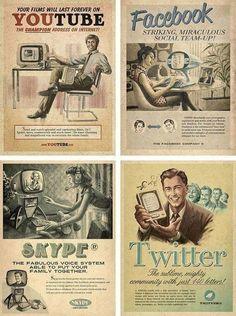 Les réseaux sociaux inventés dans les années 50, imaginez...