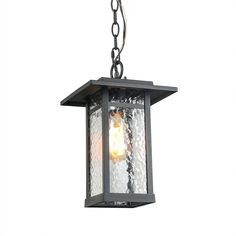 1-Light Indoor-Outdoor Wall Sconce Porch Light Farmhouse in Smooth Black with Clear Glass