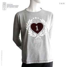 Urban Tshirt Woman HEART T.14/15 Real Oviedo, Urban, T Shirts For Women, Heart, Long Sleeve, Mens Tops, Collection, Fashion, Moda