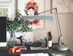 @Inspired by This Blog introduces Rifle Paper Co. Creator Anna Bond and shows us around their offices. Loving this desk decor! /ES