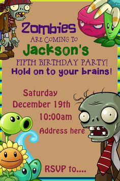 788 best party ideas images on pinterest in 2018 lilo and stitch plants vs zombies invitation by bugsinmypocket on etsy maxwellsz