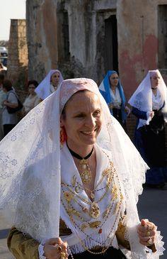 Traditional Costume in Sardinia, Italy