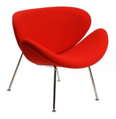 This is a picture of The Matt Blatt Replica Pierre Paulin Orange Slice Chair Pierre Paulin, Stacking Chairs, Commercial Furniture, Lounge Sofa, Orange Slices, Modern Classic, Side Chairs, Furniture Design, Furniture Ideas