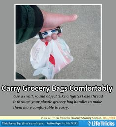 Grocery Shopping - Carry Grocery Bags Comfortably
