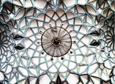 Architect Photographs Extraordinary Mosque Ceilings in Iran. Ceiling Decor, Ceiling Lights, Islamic Art, Mosque, Art And Architecture, Textures Patterns, Decoration, Design Projects, Photography