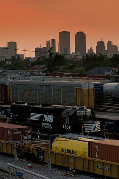 New Orleans sunset by Norfolk Southern, via Flickr