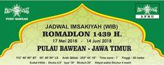 Download Jadwal Imsakiyah Ramadhan 1439 H / 2018 Khusus Daerah Pulau Bawean