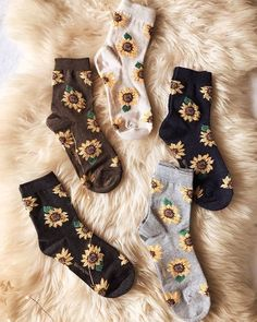 Sunflower Socks restocked + off w code HOLIDAY ✨🌻 Shop➡️Www.bellexo… Sunflower Socks restocked + off w code HOLIDAY. Funky Socks, Crazy Socks, Cute Socks, Fashion Socks, Fashion Outfits, Ootd Fashion, Classy Fashion, Fashion Tips, Easy Style