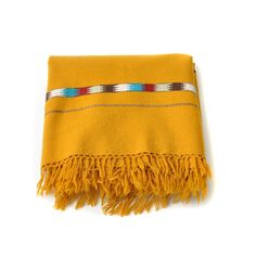 Southwest Wool Blanket Mustard, $45, now featured on Fab.