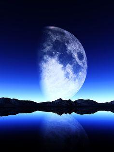"""Bildwerk """"The moon"""""""