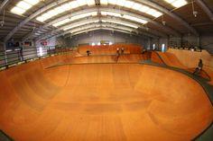 indoor skate park halfpipe - Google Search Skate And Destroy, Skating Rink, Skate Park, Building Design, Indoor, Interior, Bmx, Skateboarding, Perth