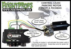 FrightProps Support & Training Center - Control a 12vDC Parking Motor from a PicoBoo