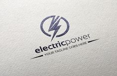 The electric power logo template is in EPS file format, created with Adobe Illustrator. The logo template is ideal for electric Letterhead Template, Brochure Template, Logo Templates, Electricity Logo, Phone Charging Stations, Power Logo, Logo Branding, Logos, Electric Power